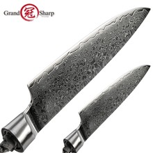 Damascus Chef Knife Blank Blade 67 Layers Japanese Damascus Steel VG-10 Kitchen Knifes Utility Paring DIY Tools Parts Hobby NEW(China)