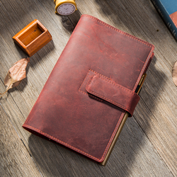 Yiwi Magnetic Buckle Ppgrade Retro Leather Hand Planner Travel Notepad Binder Handmade Leather Notebook  A6