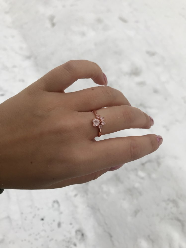 DOGGIE PAW ROSE QUARTZ RING photo review