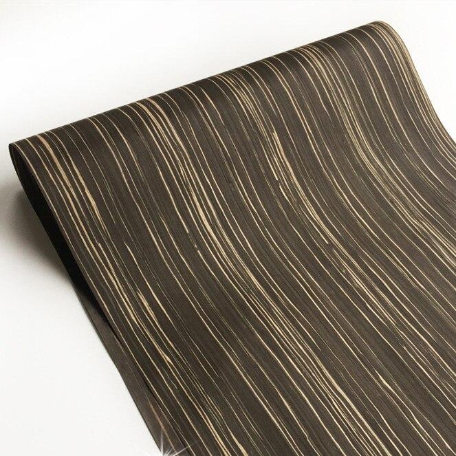 Technical Veneer Sliced Wood Engineering Veneer E.V. Ebony 64x250cm Backing With Tissue 0.2mm Thick Q/C