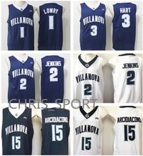 b1fcf9d721e9 Villanova College Basketball Jerseys Wildcats player 1 Kyle Lowry 2 Kris  Jenkins 3 Josh Hart 15