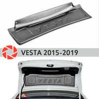 Garniture sur le couvercle du coffre pour Lada Vesta 2015-2019 accessoires couvercle de protection garde porte arrière décor protection style de voiture