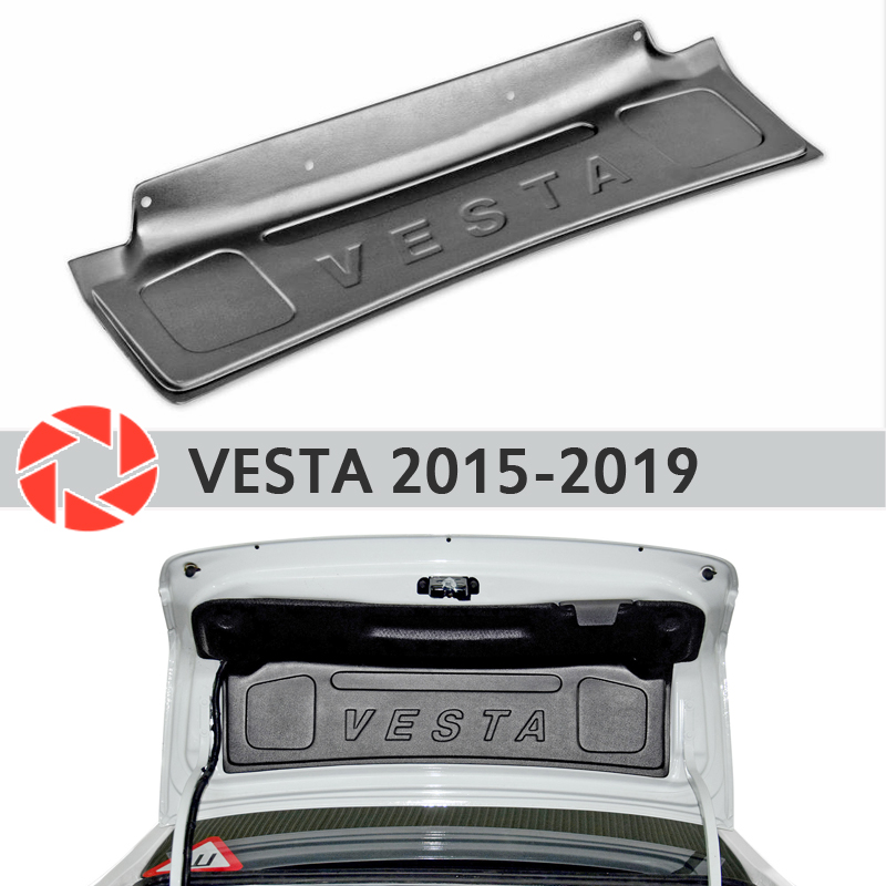 Trim on the trunk lid for Lada Vesta 2015-2019 accessories protective cover guard rear door decor protection car styling