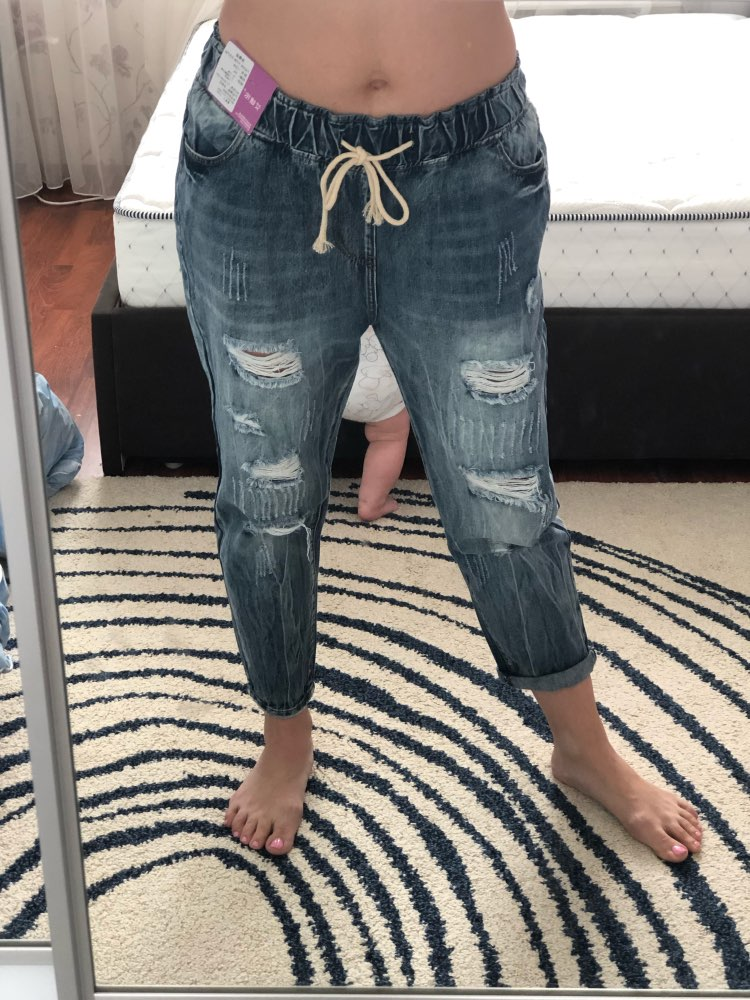 Summer Ripped Boyfriend Jeans For Women Fashion Loose Vintage High Waist Jeans Plus Size Jeans 5Xl Pantalones Mujer Vaqueros photo review