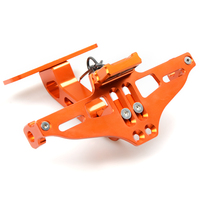 CNC Aluminum Motorcycle Rear License Plate Mount Holder With LED Light For KTM 200 250 390