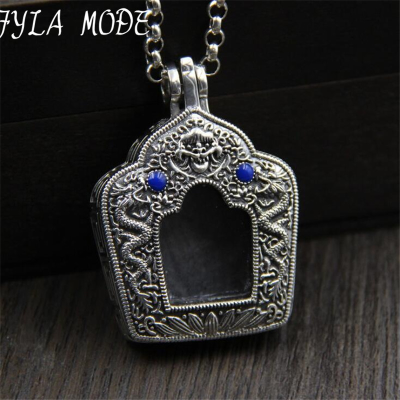 FYLA MODE 925 Silver Round Pendant 100% Pure S925 Solid Thai Silver Thang-ga Gawu Box Pendants for Women Men Jewelry MakingFYLA MODE 925 Silver Round Pendant 100% Pure S925 Solid Thai Silver Thang-ga Gawu Box Pendants for Women Men Jewelry Making