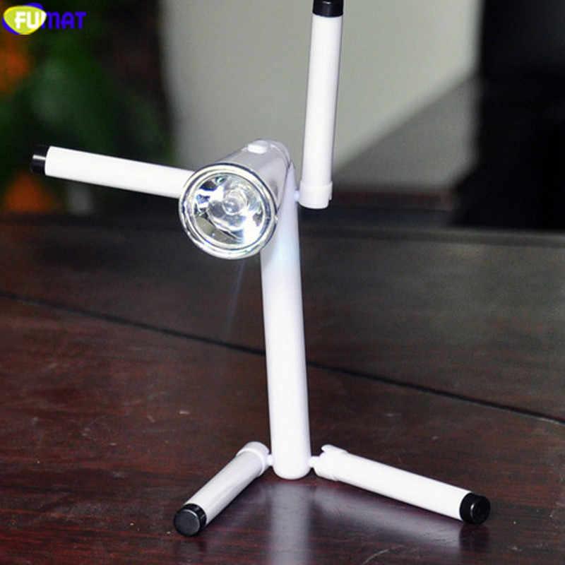FUMAT Мини светодиодный настольная лампа Кнопка офисный компьютер вкл. Выкл. Флэш-светильник защита глаз книжный светильник DIY детская спальня прикроватная настольная лампа