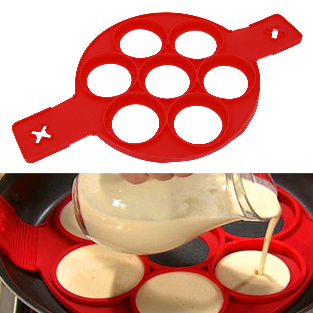 Discreet Pancake Egg Cooker Maker Nonstick Cooking Tool Round Heart Flower Square Shape Pan Flip Eggs Mold Kitchen Baking Accessories Pretty And Colorful Egg & Pancake Rings