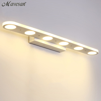 AC110 240V High Quality 12w 18w LED Wall Lights Stainless Steel Wall Lamp Bathroom Bedroom Mirror
