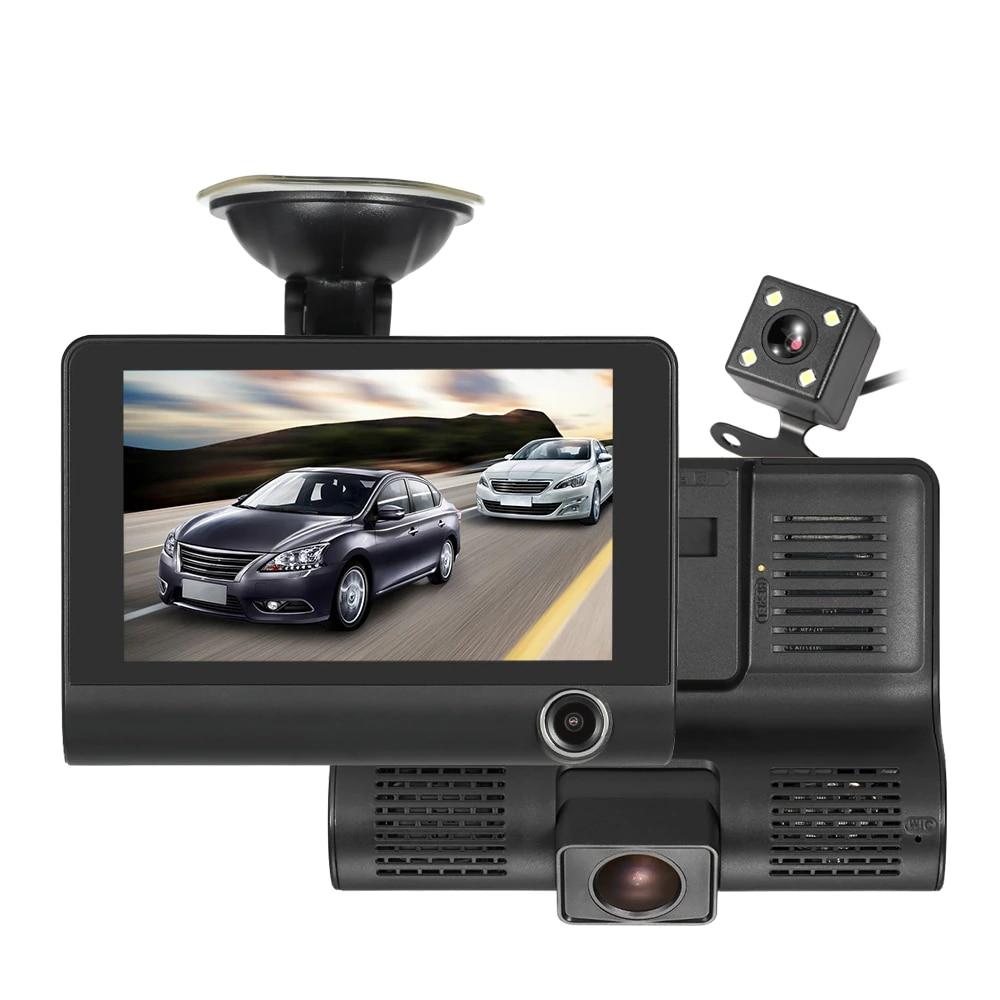 KKMOON 4 1080P Three Lens Car DVR Dash Cam Camera Camcorder Night Vision G sensor Motion