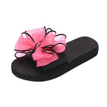 Women Summer Sandals Fashion Beach Bowknot Comfy Casual Flat Shoes Slippers