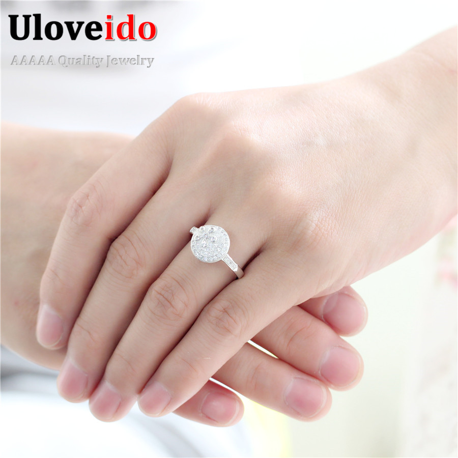 Uloveido Gifts for Women Female Ring Finger Wedding Ring Handmade ...