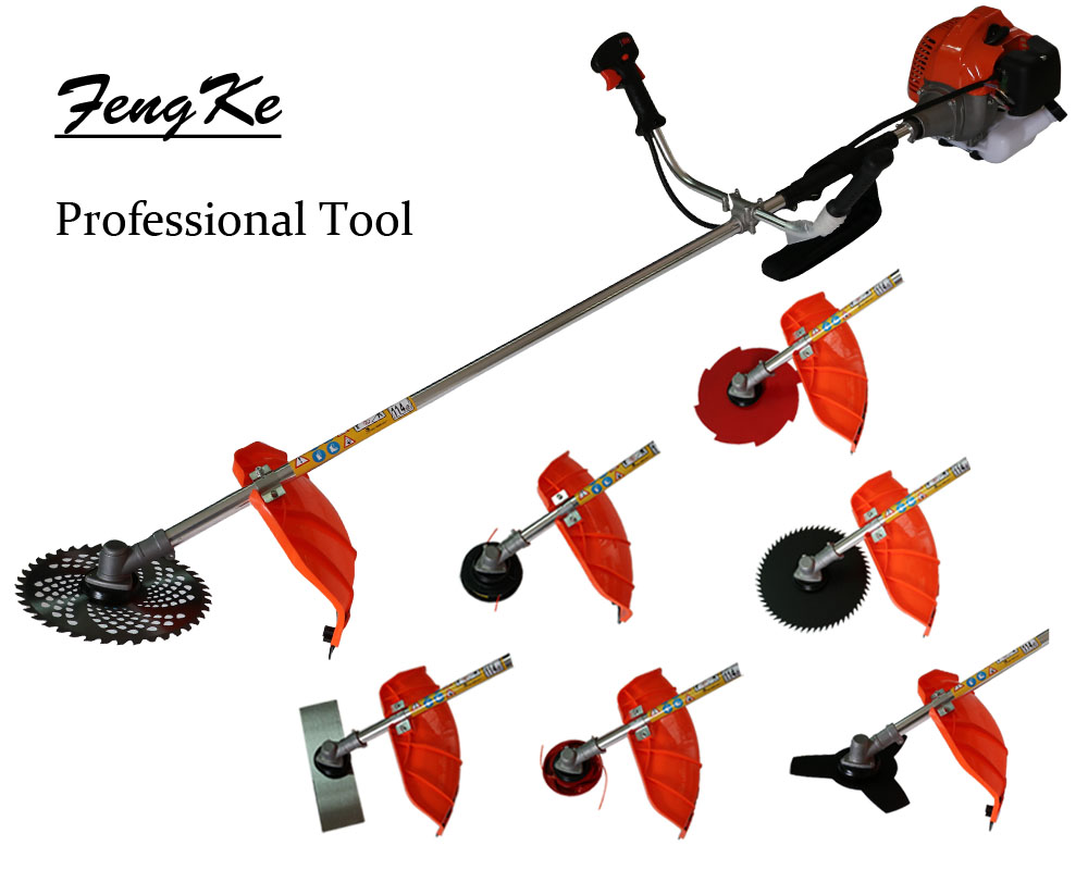 52cc Heavy Duty 7 in1 Petrol Strimmer Grass Trimmer, Brush/Bush Cutter Whipper Snipper , 7 Blades factory selling directly