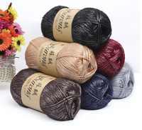 mylb 5pcs/500g Silk Cotton Knitting Yarn Crochet Needlework Thick Wool Thread Yarn For Hand Knitting Scarf Sweater Eco-friendly