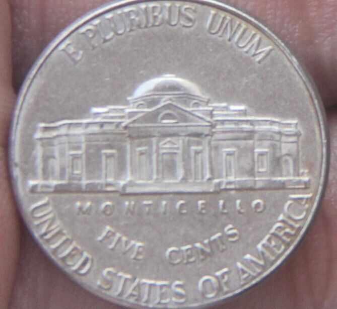 21.5mm Jefferson níquel 5 Centavos Da Moeda 1938-2004 Níquel (Estados unidos Da América) Condição Usado