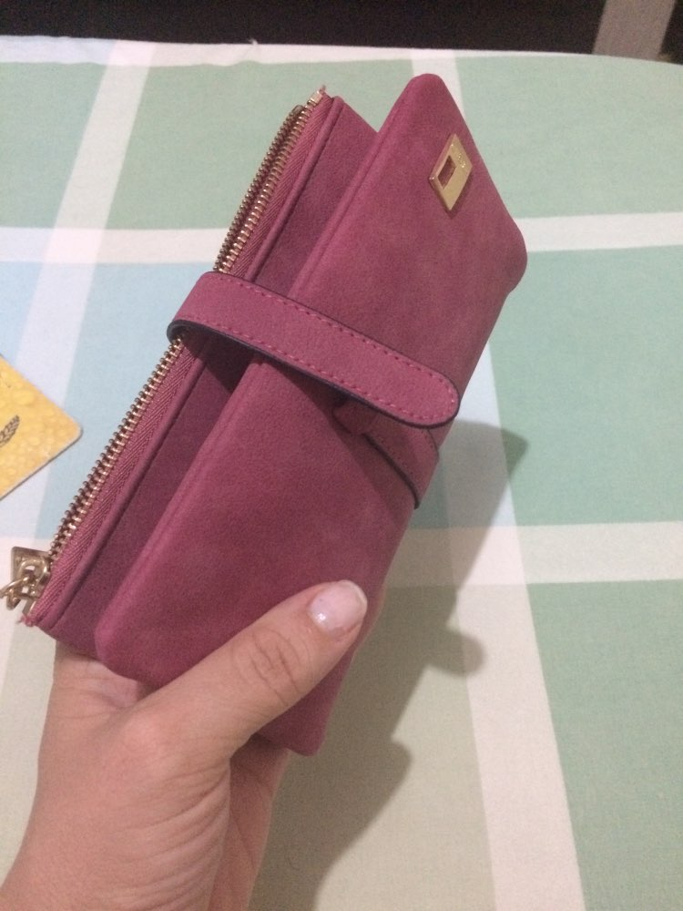 Woman wallet Long Fashion Luxury Brand  frosted Leather purse Female Coin Purse Wallet Women Card Holder Wristlet Money Bag photo review