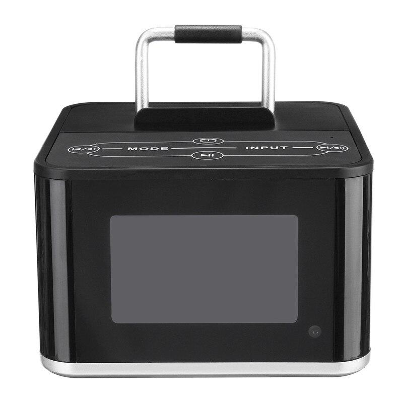 цена на Portable Bluetooth Speaker 3D Stereo Audio Music Speakers Wireless Soundbar Phone Holder Dock Station FM Digital Clock Alarm