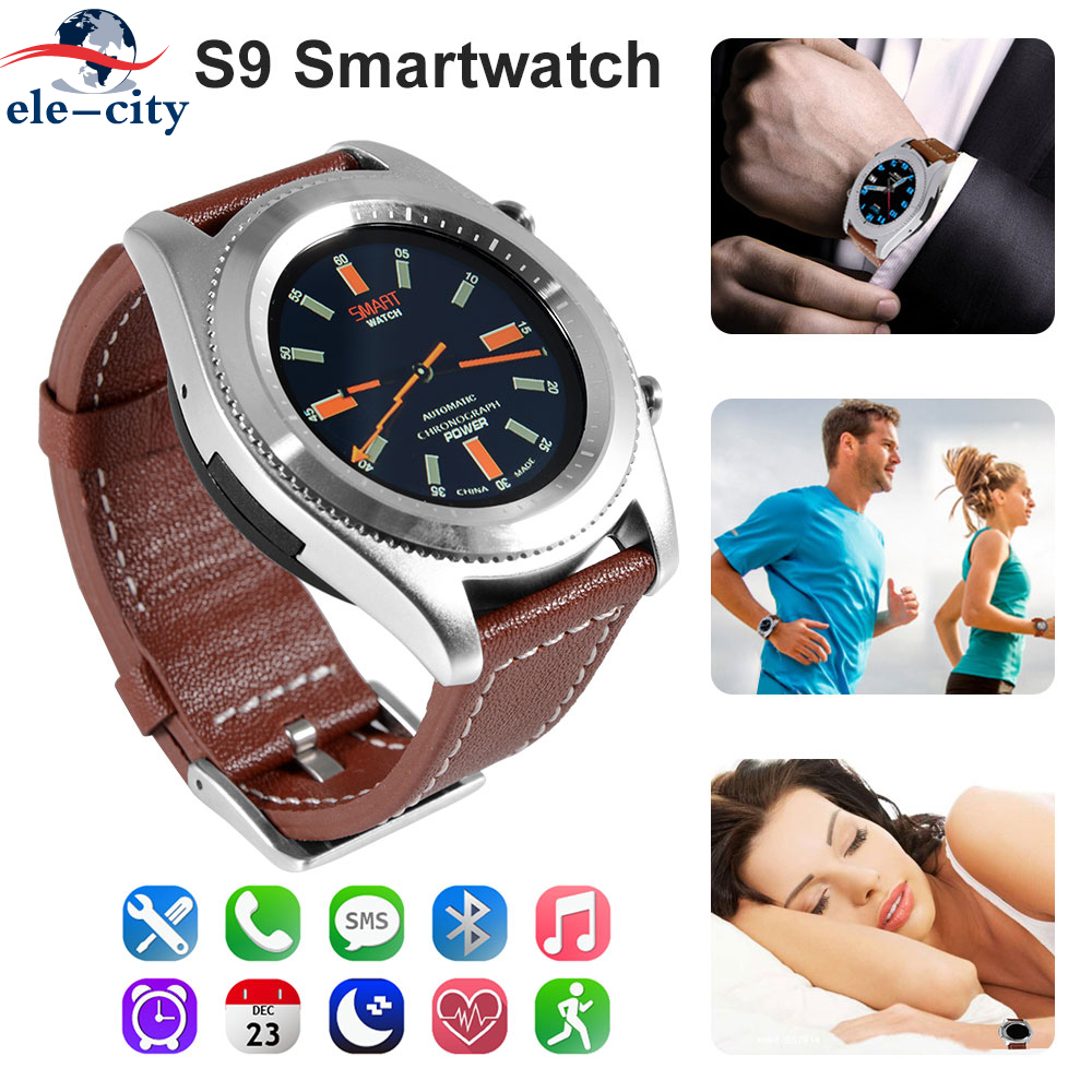 S9 NFC Smartwatch Heart Rate Monitor Bluetooth 4.0 Smart watch Bracelet Wearable devices for iOS Android All-Weather Monitoring dtno 1 s9 gps mtk2502c touch smartwatch heart rate monitor bluetooth 4 0 smart watch bracelet wearable devices for ios android