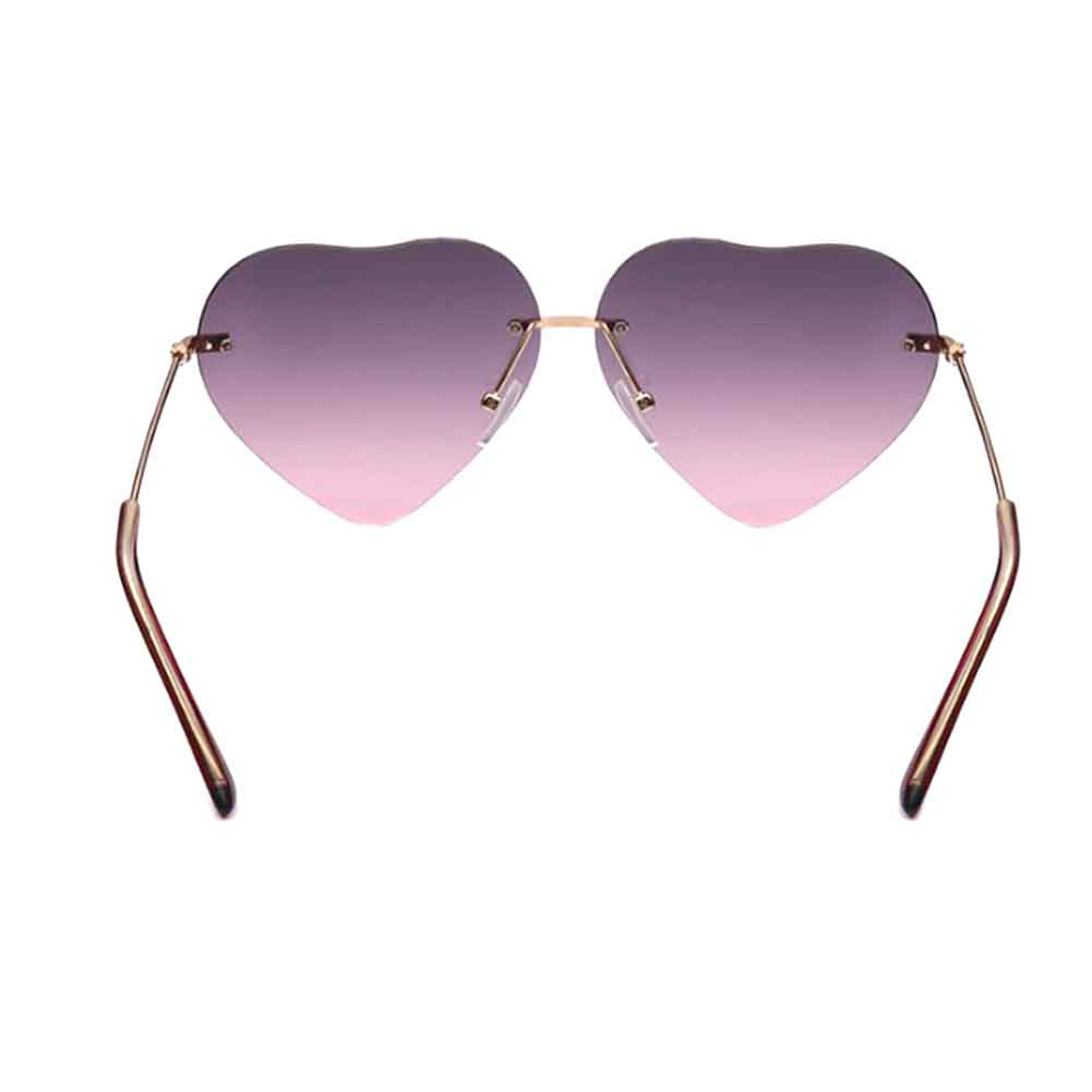 Photochromic  Rainbow Coating Sunglass Girls Womens Beach Colorful Summer Sunglasses Peach Love Heart Shaped Sun Glasses