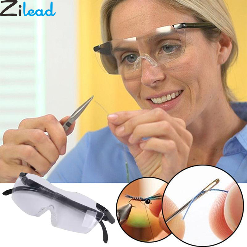 Zilead 250 Degree Vision <font><b>Glasses</b></font> Magnifier Magnifying Eyewear Reading <font><b>Glasses</b></font> Portable Gift For Parents Presbyopic Magnification image