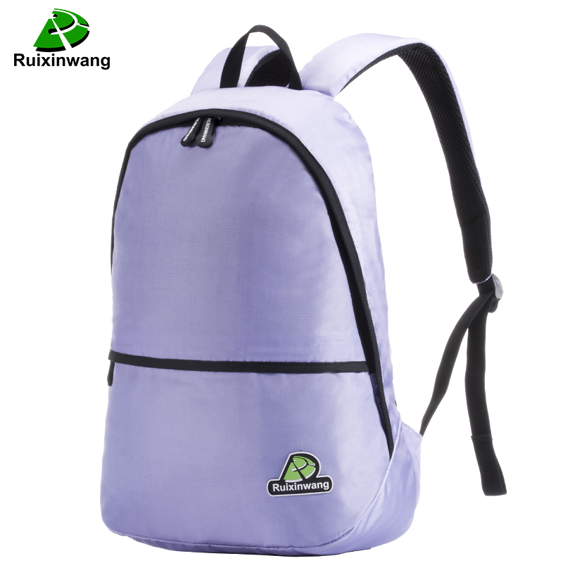 Ruixinwang Women Female Backpack nylon High quality Girl Boy College Couple Leisure Travel Bag Men Women Backpack school bags