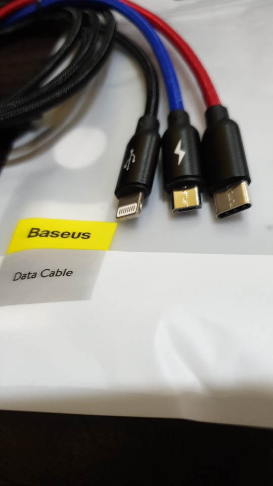 Baseus 3 in 1 USB Cable for Mobile Phone Micro USB Type C Charger Cable for iPhone Charging Cable Micro USB Charger Cord-in Mobile Phone Cables from Cellphones & Telecommunications on AliExpress