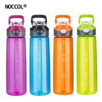 NOCCOL Eco-Friendly Sani Adulti Sport Colorato BPA Libero di Plastica della Bottiglia di Acqua di Alta Qualità Tipo di Paglia Bicchieri Flask Con Coperchio