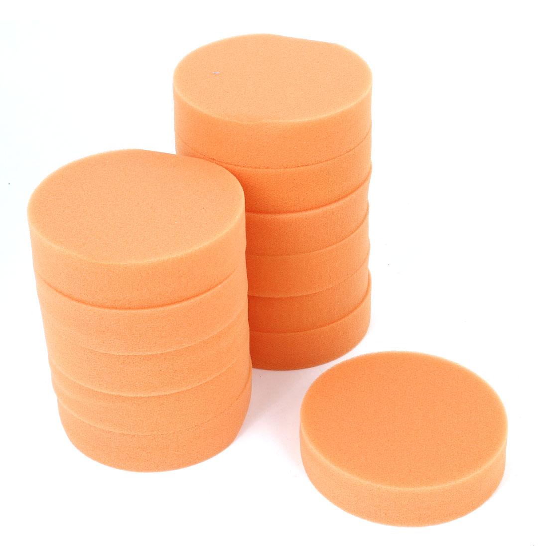 X Autohaux Car 12Pcs Cleaning Polishing Sponge Detailing Applicator Pads Orange