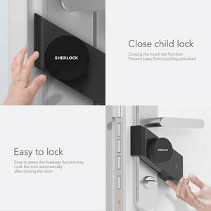 Image 4 - Sherlock Smart Lock S2 Smart Deurslot Thuis Keyless Vingerafdruk + Wachtwoord Werk Om App Telefoon Bluetooth Controle Elektronisch Slot