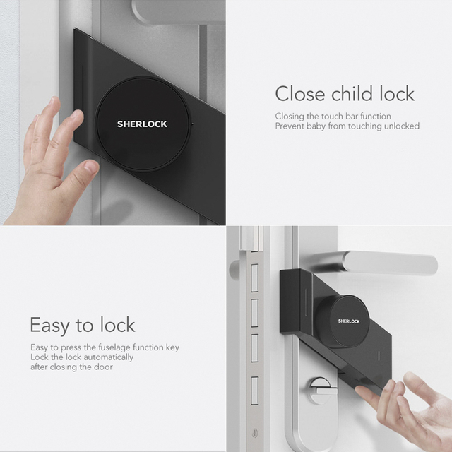 Sherlock Smart Lock S2 Smart Door Lock Home Keyless Fingerprint + Password Work To App Phone Bluetooth Control Electronic Lock