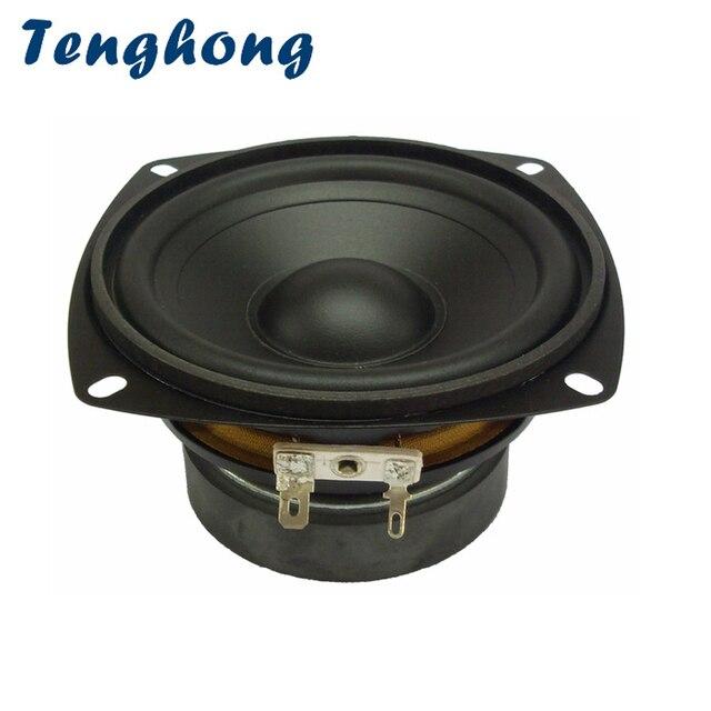 Tenghong 1pcs 4 Inch Waterproof Midrange Woofer Speaker 4/8Ohm 30W Outdoor Bathroom Lawn Audio Bass Speaker Unit Loudspeaker
