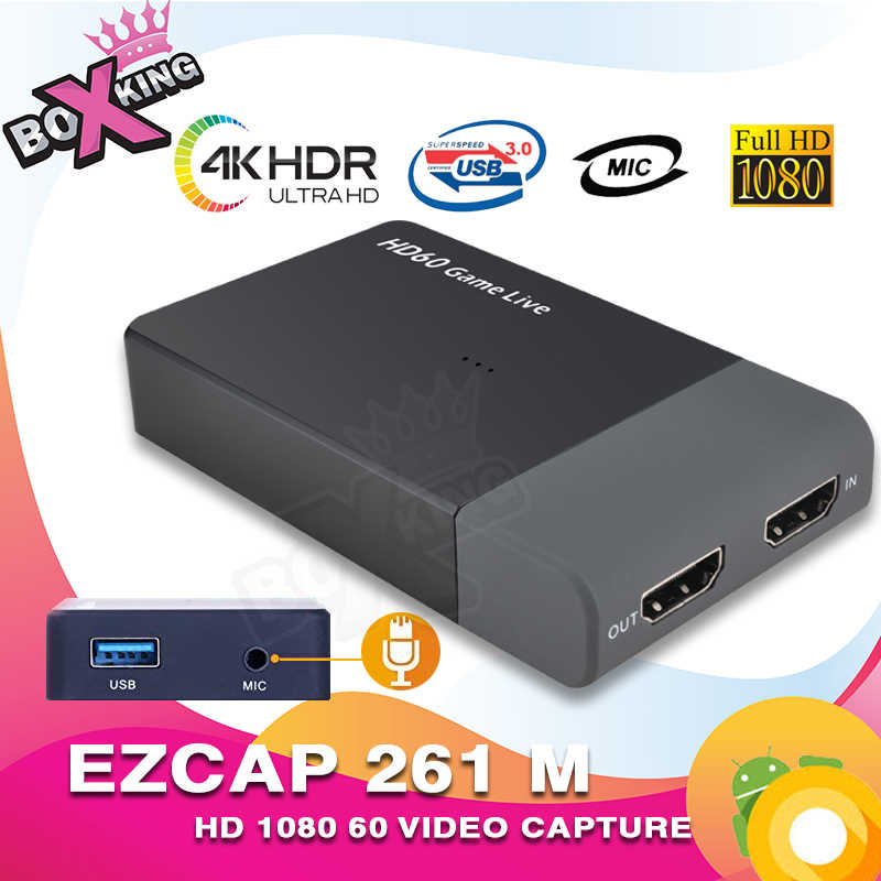 ezcap 261 M USB 3 0 4K 1080P Video capture game Live Streaming Converter  mic input for console one 360 Wi U Switch (287) (p30)