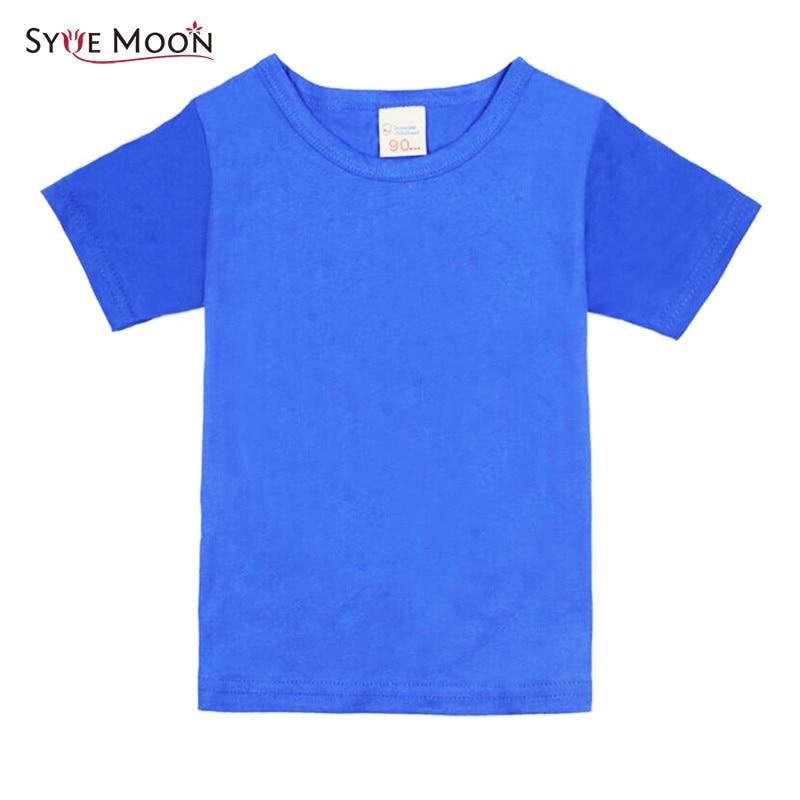 Kids Clothing Tshirts Tops Short-Sleeve Girls Boys Fashion Children Cotton 15-Colors