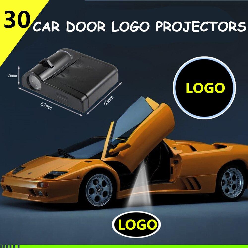 2 Pcs für bamaide fußball Drahtlose Led Auto Tür Projektor Willkommen Geist Schatten Licht