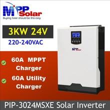 (MSXE) 3KVA 3000 W 24Vdc 230Vac Solar inverter con MPPT REGOLATORE solare del caricatore 60A + caricabatteria 60A