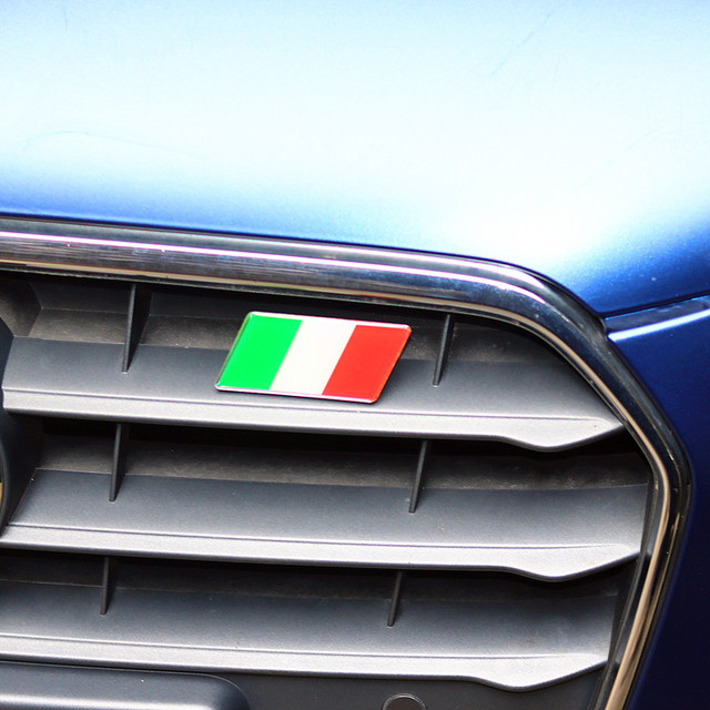 US $3 32  Car Styling Italy Flag Car Front Grill Emblem Sticker Grille  Badge for Fiat Punto 500 124 Stilo Ducato Palio Badge Alfa Romeo-in Car