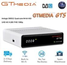GT MEDIA GTS Android 6.0 TV Box+DVB-S2 Satellite TV Receiver H.265 HD 4K Smart TV Box Support iptv Cccam PK freesat v8 freesat