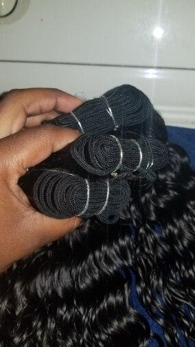 Бразильский глубокая волна волос 3 Связки с закрытием вьющиеся волосы человеческих волос пучки с закрытием средняя часть Волосы remy расширения