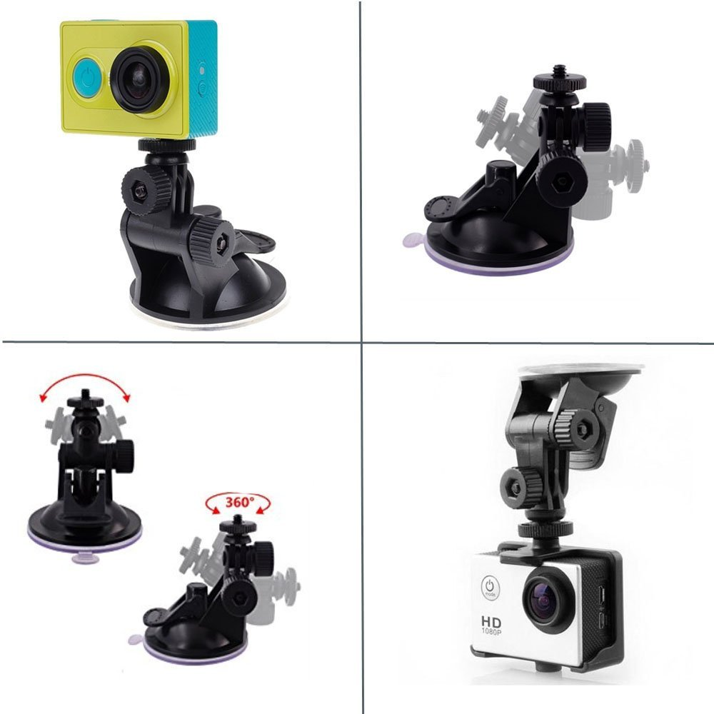 Suction cup for gopro accessories action camera action cam accessories for car mount glass monopod holder holding                (2)