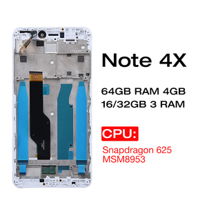 Image 2 - Orignal IPS LCD For Xiaomi Redmi Note 4X / Redmi Note 4 Global LCD Display Replacement Screen with frame Only For Snapdragon 625