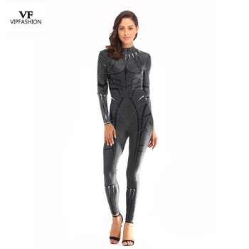 VIP FASHION New Arrival Release Cosplay Bodysuit Women 3D Avengers Super Hero Black Panther Printed Movie Long sleeve Plus Size - DISCOUNT ITEM  50% OFF All Category