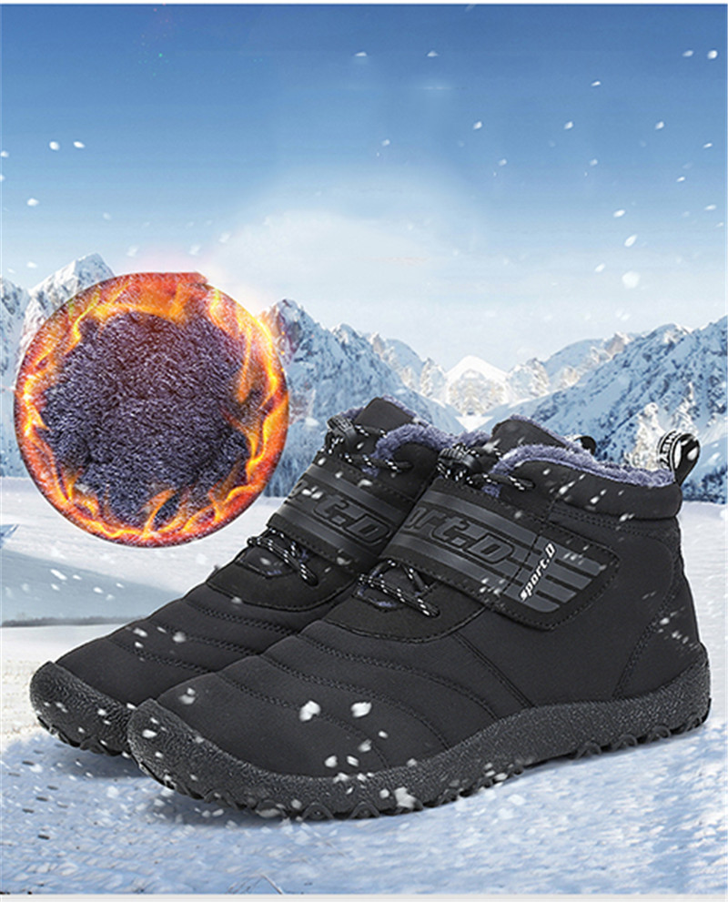 Men's Boots Objective Winter Boots Men Leather Winter Shoes Men Plus Size Tennis Sneakers For Winter Ankle Boots Male Warm Lovers Casual Botas Hombre Men's Shoes