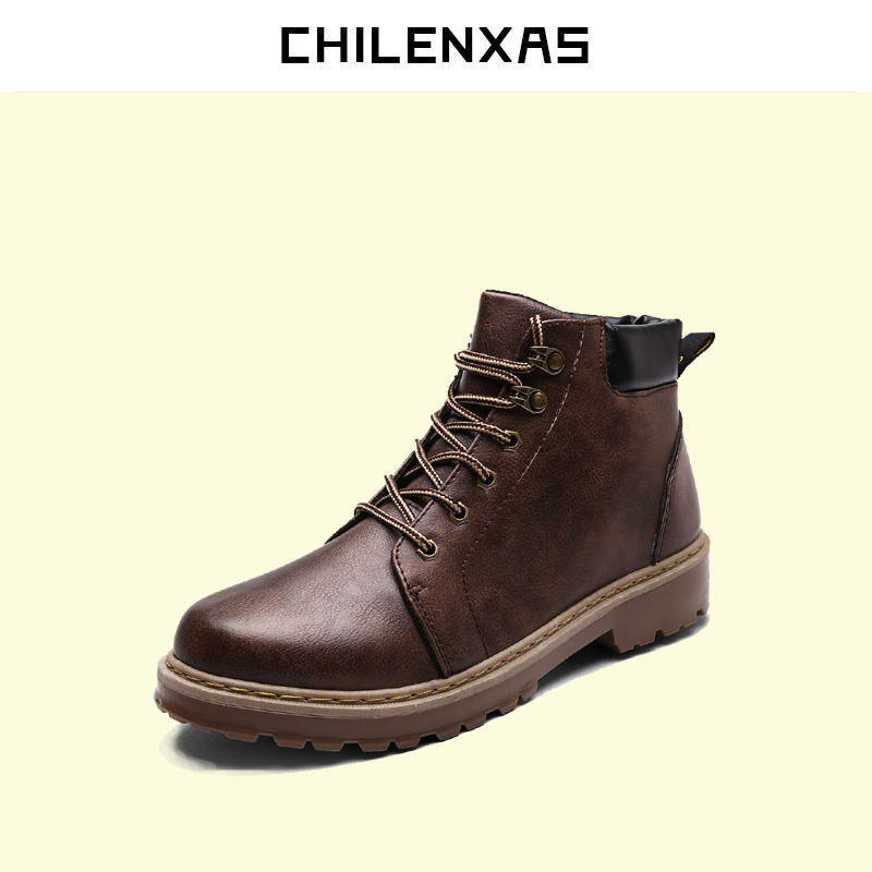 CHILENXAS 2017 autumn winter  flats oxfords shoes genuine leather men casual breathable comfortable new fashion ankle boots new arrival high genuine leather comfortable casual shoes men cow suede loafers shoes soft breathable autumn and winter warm fur