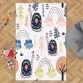 Else Yellow Blue Snail Pink Clouds Funny Animals  3d Print Non Slip Microfiber Children Kids Room Decorative Area Rug Kids  Mat