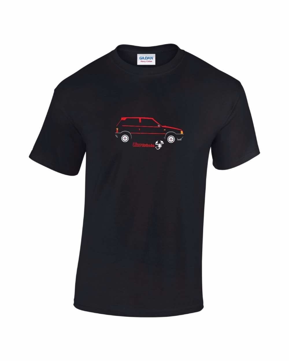 Fitted T Shirts Short Sleeve Top Fiat Uno Turbo Ie Mens Printed Car T-Shirt Crew Neck T Shirt For Men