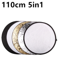 Free Delivery 43″ 110cm 5 in 1 Moveable Collapsible Gentle Spherical Images Reflector for Studio Multi Picture Disc equipment