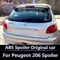 For 2006 2016 Peugeot 206 207 Spoiler High Quality ABS Material Car Rear Wing Primer Color Rear Spoiler For Peugeot 206 Spoiler