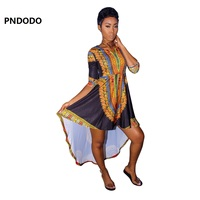 Hot Sale Traditional African Clothing Bazin Riche Dresses For Women Traditional African Print Dashiki Maxi Long Dress