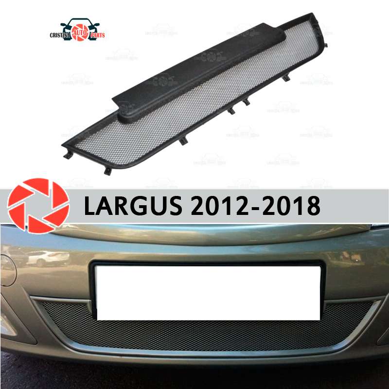 Mesh grille radiator for Lada Largus 2012-2018 plastic ABS embossed front bumper car styling accessories decoration