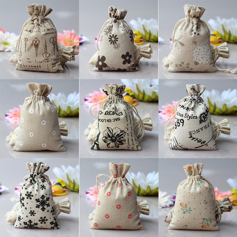 sale uk buying cheap quality design US $0.26 38% OFF|MENGXIANG 1pc Cartoon Print Burlap Bag Drawstring Pouch  Sack Mini Burlap Jute Wedding Favor Packaging Bags Gift Bag-in Gift Bags &  ...